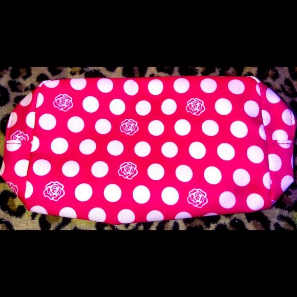 Pink Lancôme Make Up Bag